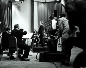Fritz Reiner and the Orchestra in the WGN-TV studios