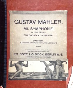 The score for Mahler's Symphony no. 7 used by Frederick Stock for the U.S. premiere