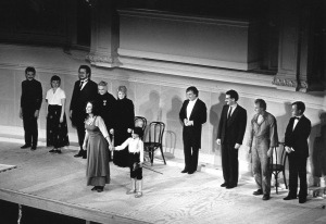 Abbado and the cast onstage at Orchestra Hall on May 24, 1984 (Jeff Wassmann photo)