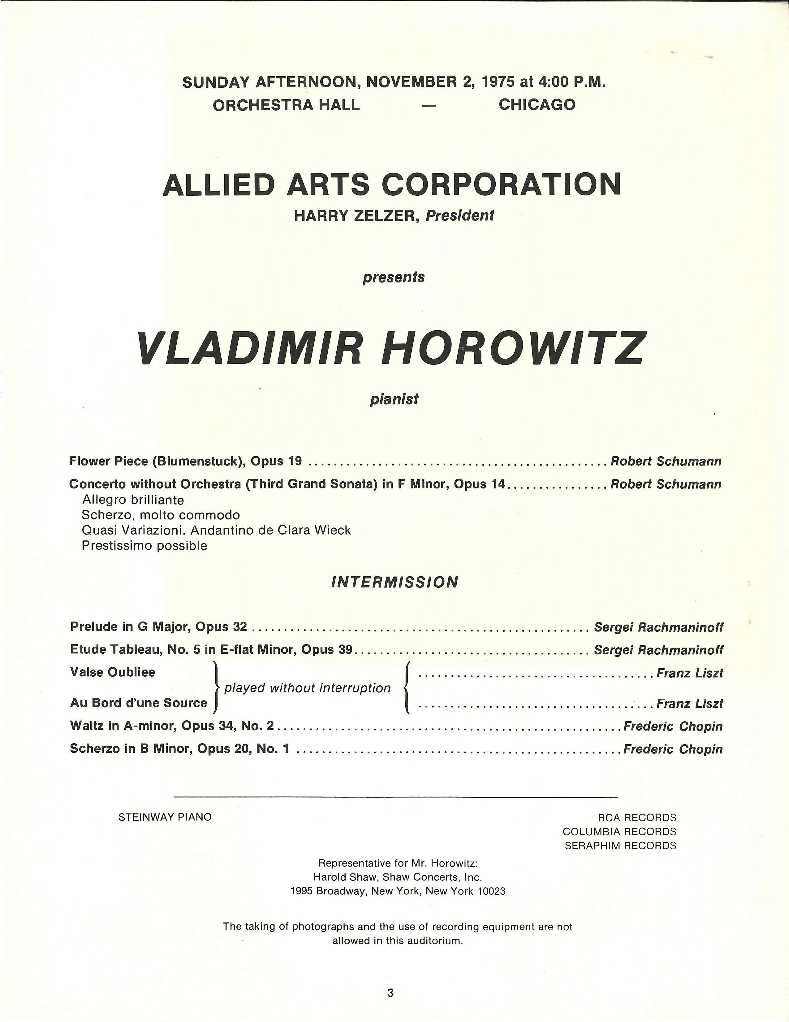 Vladimir Horowitz The Unreleased Live Recordings 19661983 From