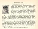 Peters's November 1953 program biography