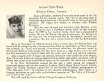Peters's November 1953 program biography