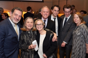 Archivists and historians representing five institutions were on hand for the opening reception: Gino Fran
