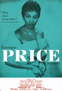 Advance notice for Price's 1963 debut with the Chicago Symphony Orchestra